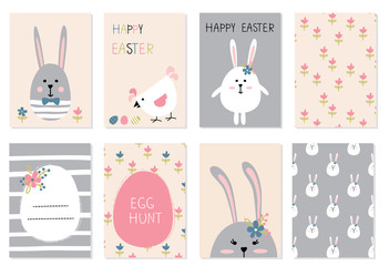 Easter greetings cards set