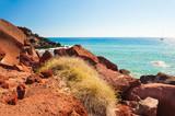 Red beach on Santorini island, Greece. - 196824006