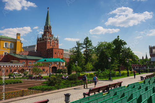 Foto op Canvas Moskou Towers Moscow Kremlin in solar weather
