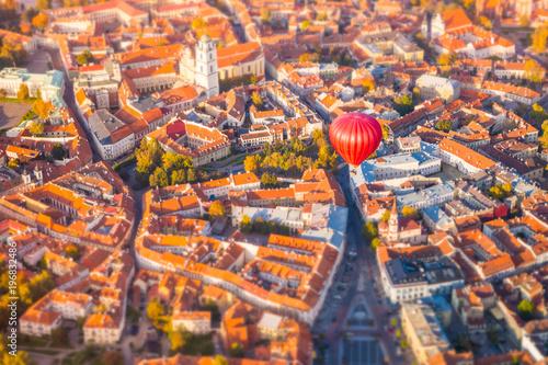 Aluminium Oranje eclat Aerial view of Vilnius, Lithuania