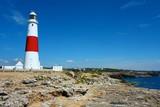 Big lighthouse on the coast of England - 196836822