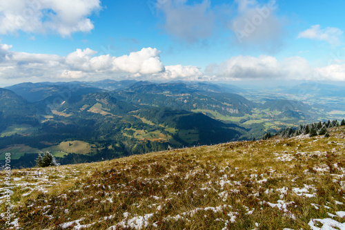 Hiking trail in the mountain landscape of the Allgau Alps on the Fellhorn nice view © Christopher