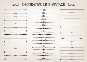 set of vintage line