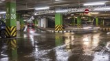 motion of cars at entrance and exit in underground shopping mall parking  time lapse - 196846203