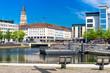 Leinwanddruck Bild - Landeshauptstadt Kiel - Innenstadt am Bootshafen - 1997