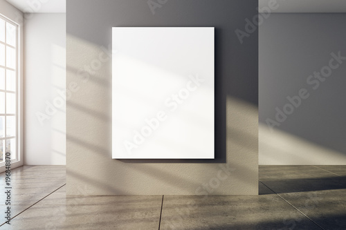 Modern interior with empty poster - 196848870