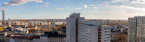 Fototapeta Berlin City Skyline Panorama mit Hochhäusern