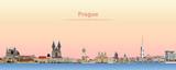 Prague vector city skyline at sunrise - 196853459