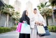 Two arabian girlfriends bonding and having fun