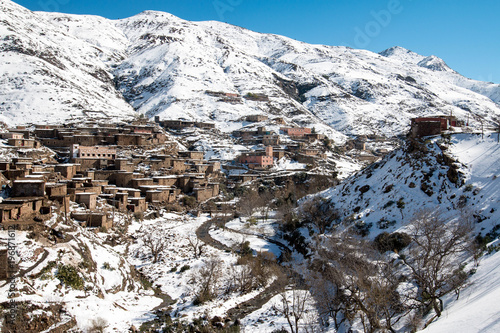 Foto op Plexiglas Marokko Berber village in the Atlas Mountains, Morocco
