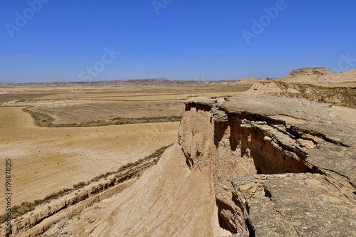 Paysage désertique des Bardenas Reales Espagne