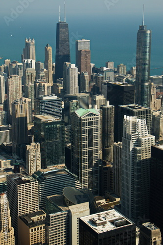 Poster Chicago Aerial view of Chicago in Illinois in the USA