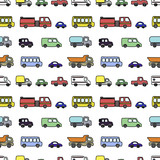 Seamless pattern with cute colorful cars. Vector illustration. Perfect for kids fabric, textile, nursery wallpaper.