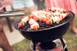 Barbecue garden grill,close-up.