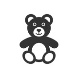 Teddy bear plush toy icon. Vector illustration. Business concept bear pictogram. - 196895691