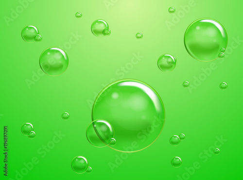 Leinwanddruck Bild Set of Raster Soap Water Bubbles. Transparent Isolated Realistic Design Elements. Can be used with any Background.