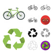 Bio and ecology cartoon,black,flat,monochrome,outline icons in set collection for design. An ecologically pure product vector symbol stock web illustration.