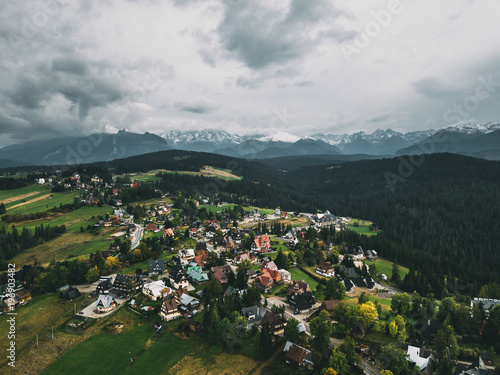 Widok na Tatry z powietrza