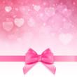 Decorative Pink bow background. Vector Illustration