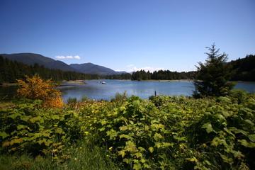 lac sur l'île de Vancouver