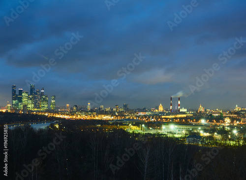Foto op Canvas Moskou Cityscape of Moscow with skyscrapers