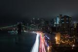 Foggy Night on Manhattan Bridge