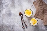 Healthy detox turmeric latte. Golden milk. - 196939643