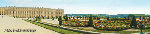 Chateau de Versailles Gardens in Paris, France. - 196953869