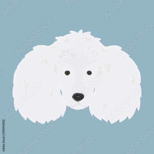 Illustration of cuddly dog