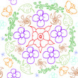 flower hand drawn vector pattern seamles - 196955829