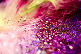 macro shot of feather and glitter - 196957836