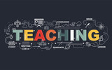 Design Concept Of Word TEACHING Website Banner. - 196966404