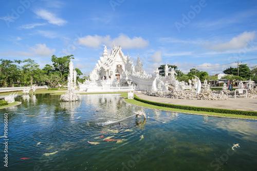 Sticker Rong Khun temple, Wat Rong Khun, White temple, Chiangrai Thailand