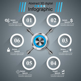 Key, lock, safe icon Business infographic Vector eps 10 - 196969286
