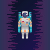 Vector illustration of astronaut in space