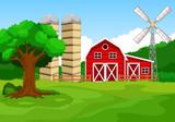 Illustration of farm background