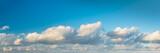 Panorama of beautiful cloudy sky.