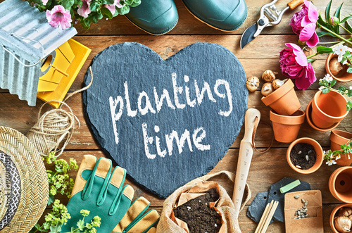 Planting time concept