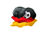 The national flag of Germany - 196983845