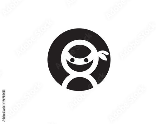 Ninja Icon vector illustration - 196984681