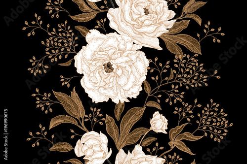 Floral vintage seamless pattern. - 196990675