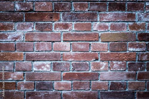 Fotobehang Baksteen muur Rote Ziegelwand, Hintergrundgrafik, Konzept