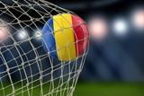 Romanian soccerball in net - 197007623