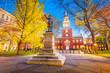Leinwanddruck Bild - Philadelphia, Pennsylvania at Independence Hall