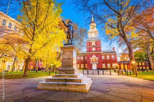 Leinwanddruck Bild Philadelphia, Pennsylvania at Independence Hall
