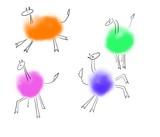 Sweet animal characters