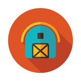 Farm barn vector icon - 197019851