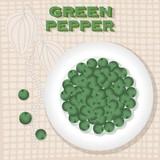 Vintage label for Green Pepper - 197021253