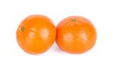 Group of ripe fresh juicy tangerines or mandarines isolated on white background