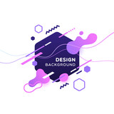 Fototapety Trendy concept abstract geometric design, memphis background. Applicable for placards, brochures, posters, covers and banners. Vector illustration.